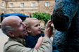 Parwich - Tim, Charlie, a horse statue and white balance too far in the blue direction.