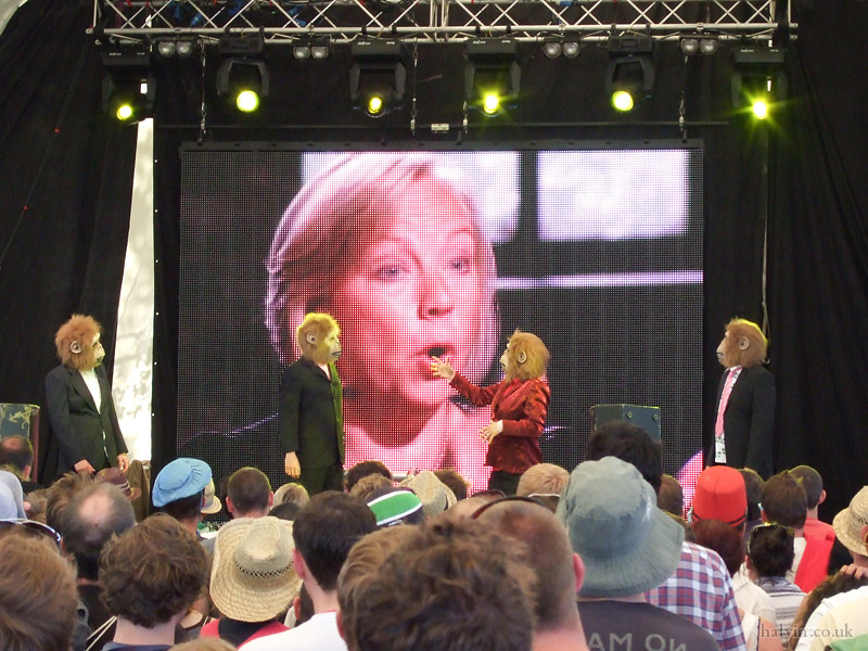 Glastonbury 2011 - Cassetteboy doing Dragons' Den