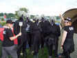 Glastonbury 2011 - The completed fly suits with our SWAT team
