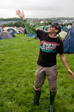 Glastonbury 2011 - Ady with the remains of his high quality poncho